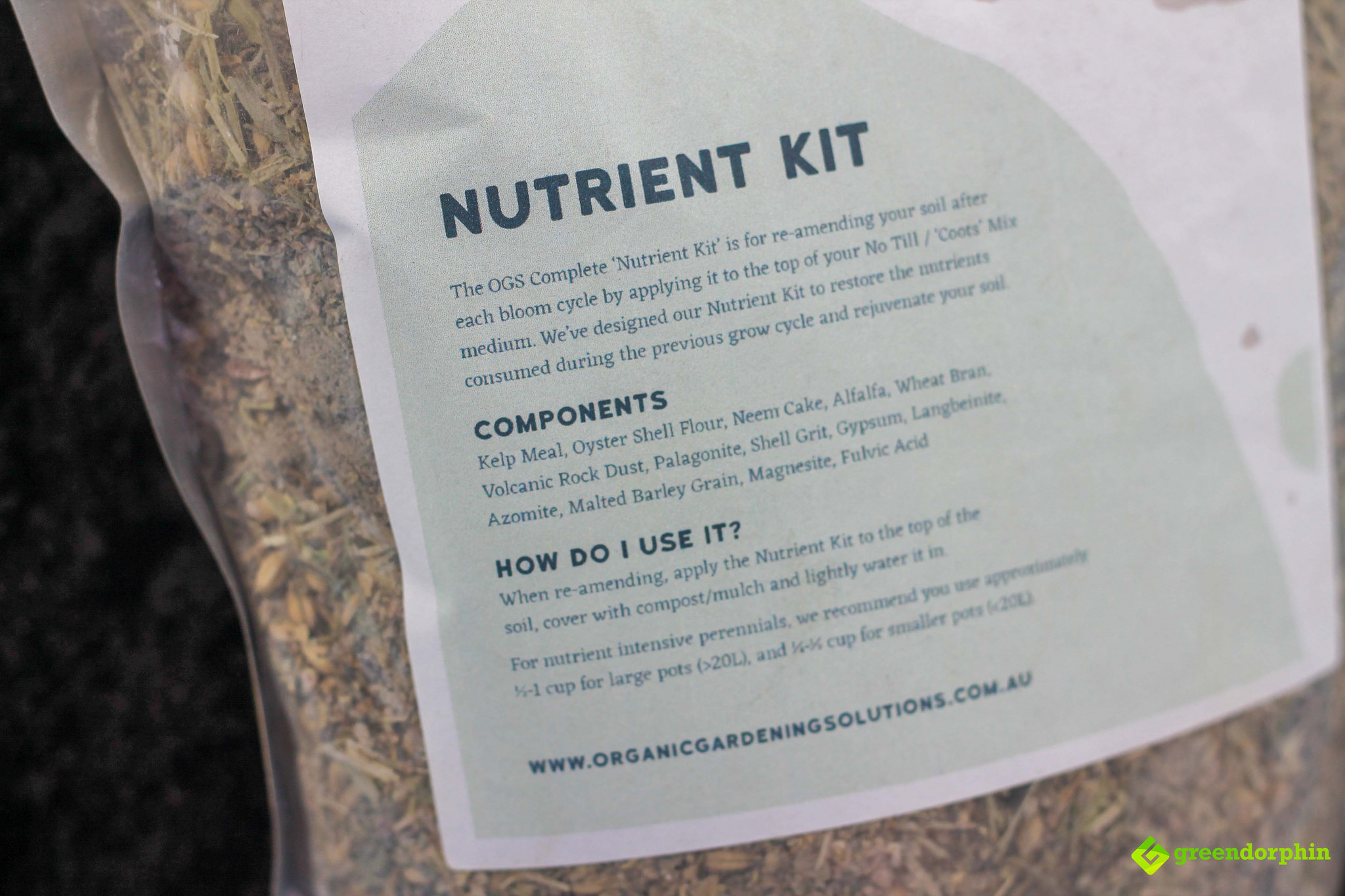 No-Till Soil OGS nutrient kit
