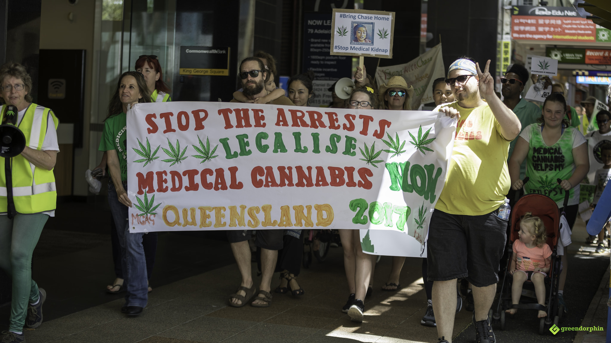 Medical Cannabis Law Reform Rally and March - Brisbane Australia Canada's New Weed Laws