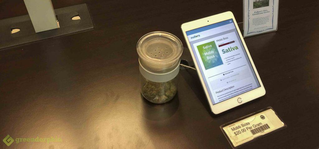 Euflora Cannabis Dispensary Display- cannabis strains