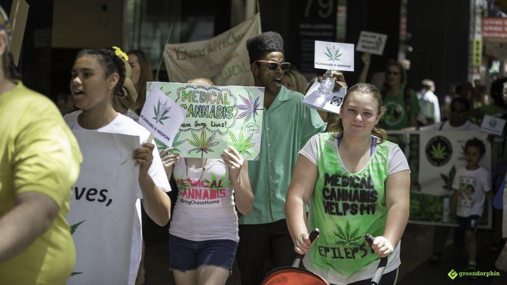 Medical Cannabis Law Reform March - Brisbane, Australia
