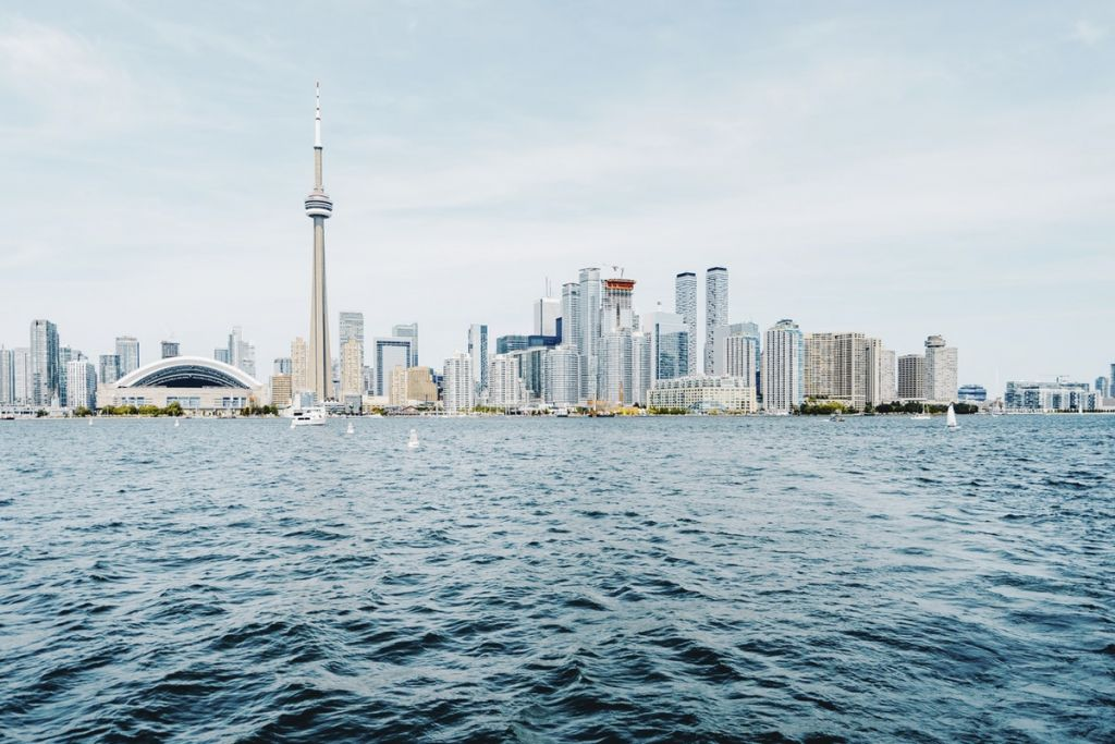 Toronto skyline - vacationing in Canada