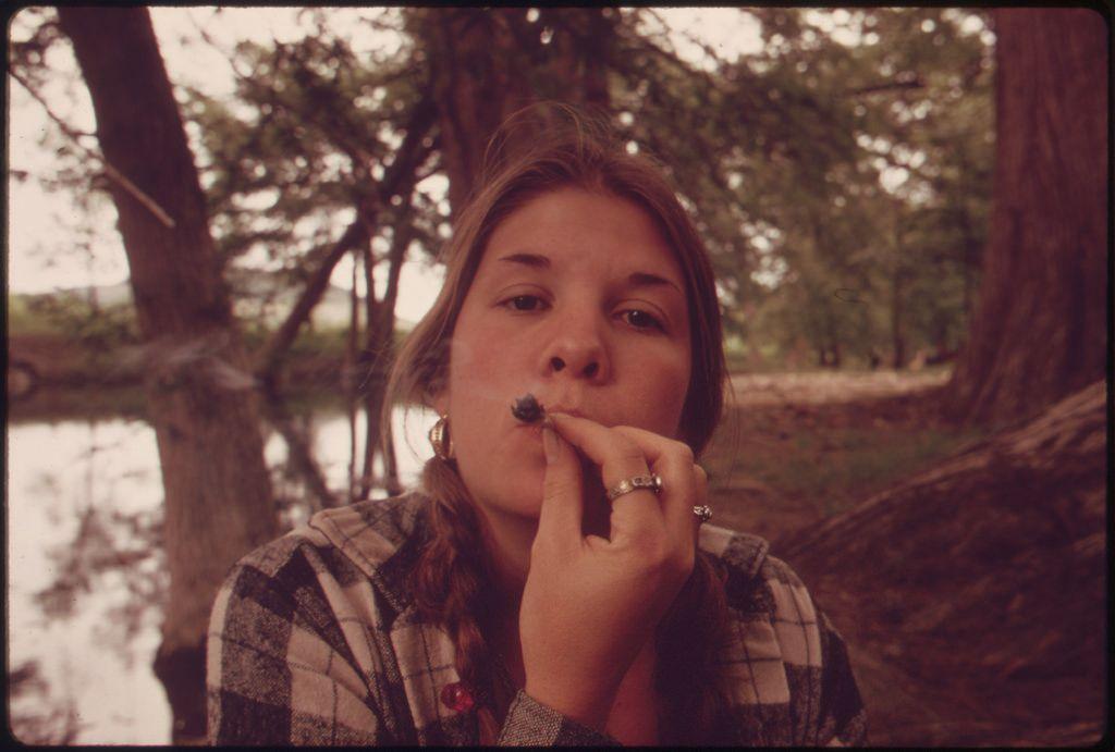 Vintage Photos of Teens Smoking Marijuana in Texas in the 70's