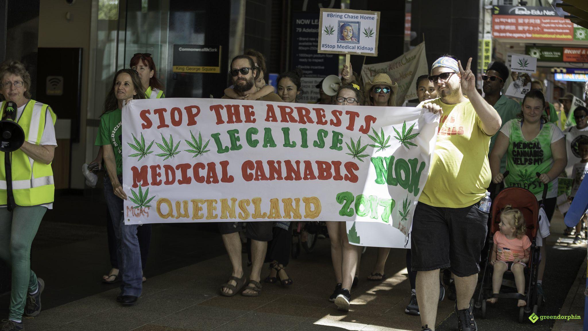 Medical Cannabis Law Reform Rally and March - Brisbane Australia