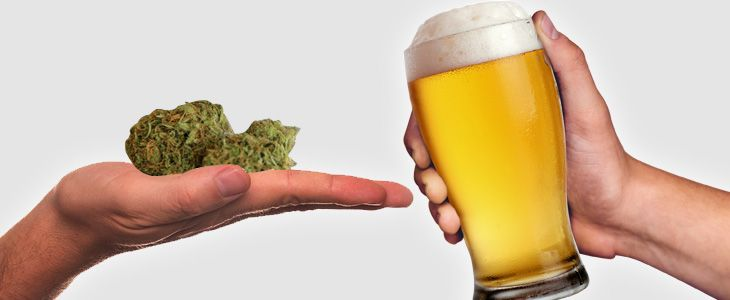 alcohol with cannabis