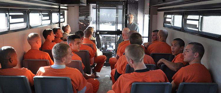 prisoners on the bus