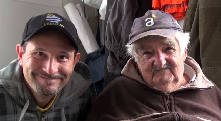 Arik with President Mujica