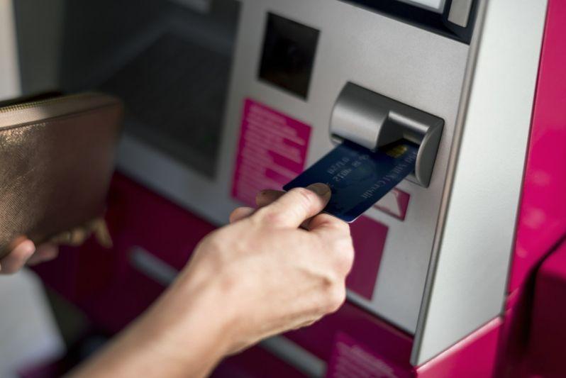 ATM - paying in cannabis dispensary