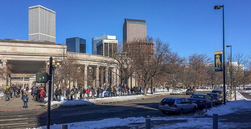 Colorado Homeless Line for Food Stamp