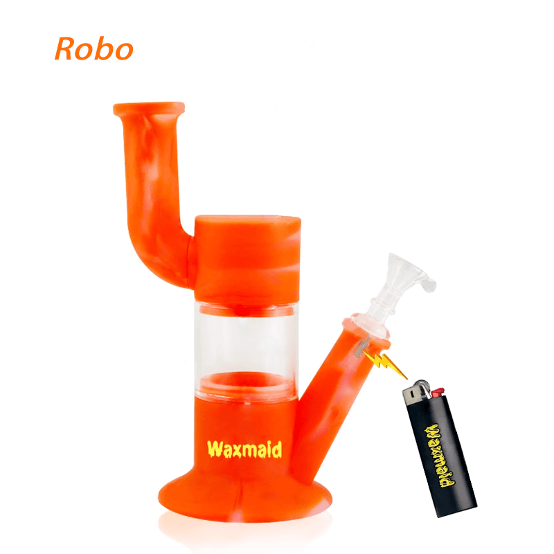 Waxmaid Robo silicone glass water pipes