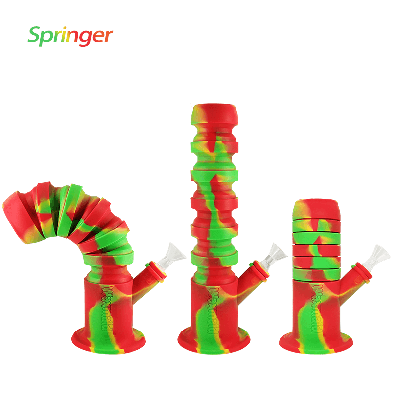 Waxmaid Springer collapsible silicone water pipes